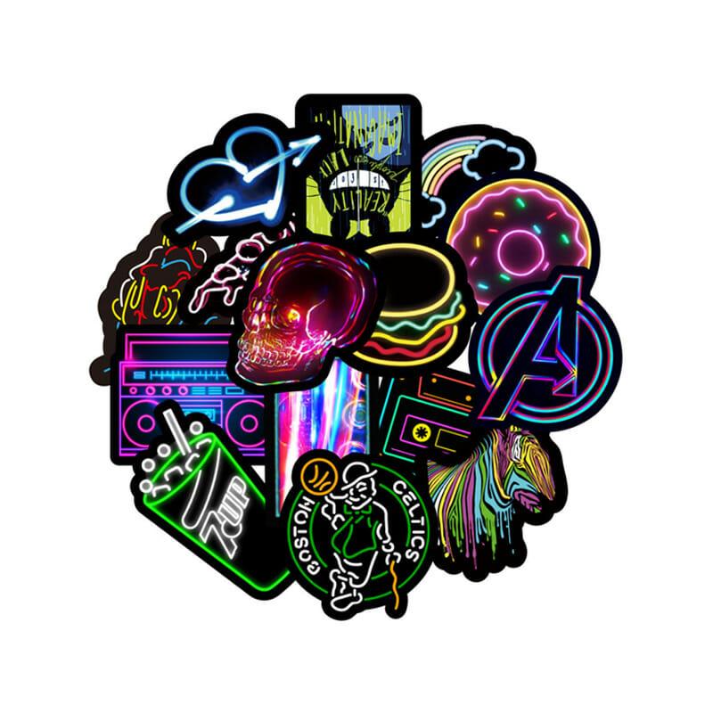 Laser Glitter Kids Stickers