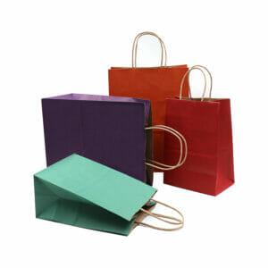 Food Kraft Paper Shopping Bags