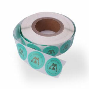 Cut-Die Roll Logo Stickers