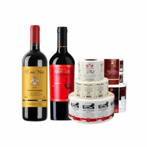 Wine Bottle Label Packaging Stickers