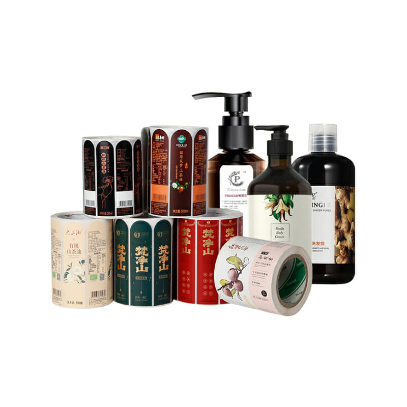 Cosmetic Shampoo Bottle Packaging Stickers