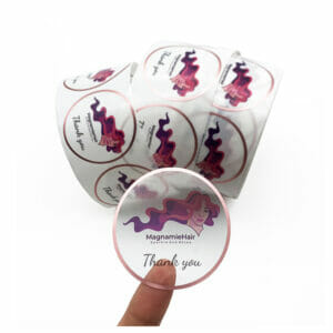 Transparent packaging stickers