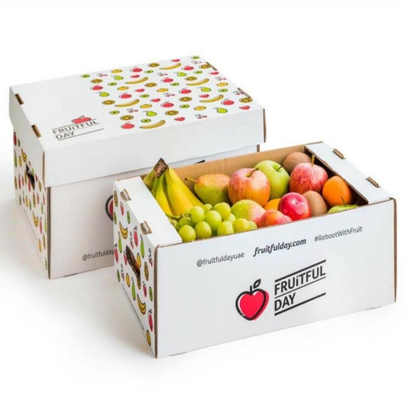 Corrugated cardboard vegetable box