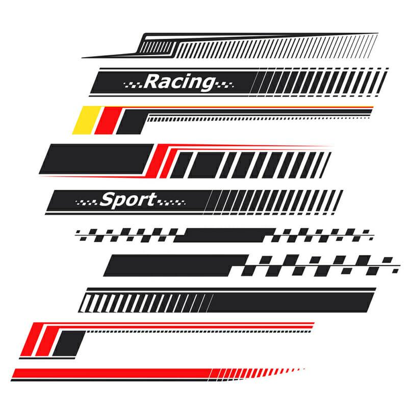 Mixed Car Stripe Decals