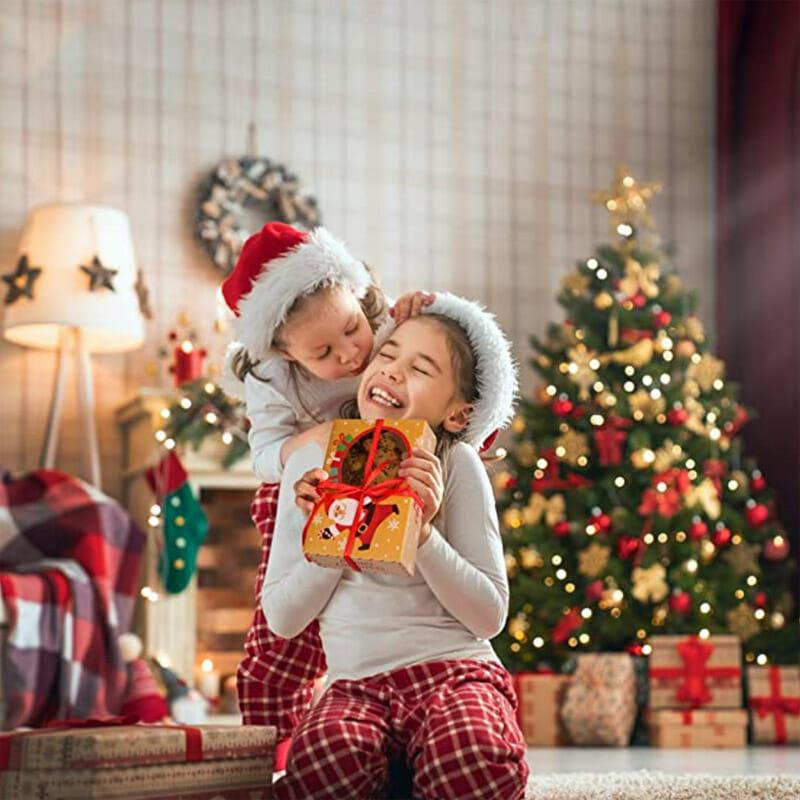 Kraft XMAS Gift Packages Box and Ribbon