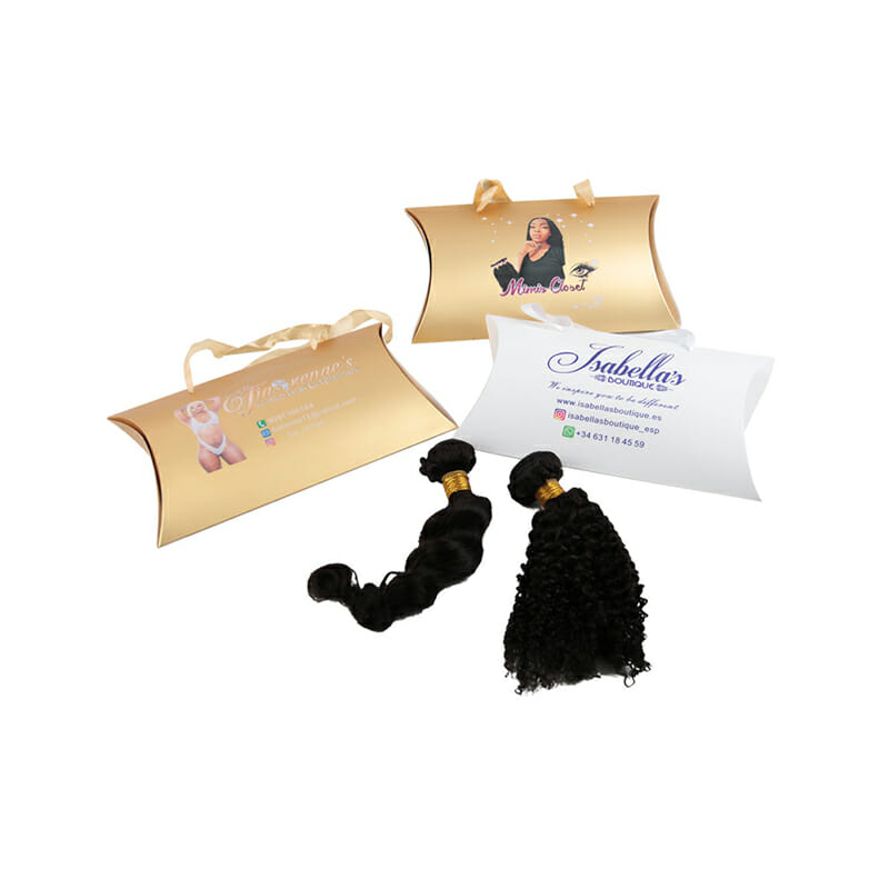 Pillow Wig Packaging Paper Box with Handle